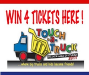 Win 4 Tickets to Touch-A-Truck Here!