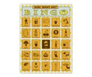 Kids Night Out Bingo Card Giveaway From
