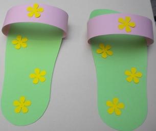 Paper Flip Flops
