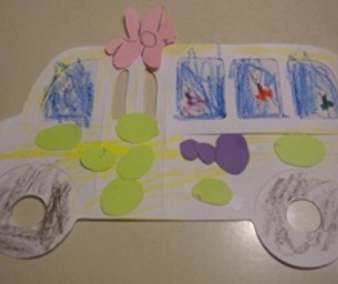 Back to school craft:  Paper bus