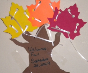 Leaf Lacing Cards Craft