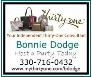Thirty-One with Bonnie Dodge- October Specials