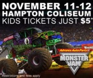 Monster Jam roars in to Hampton Coliseum Nov 11-12