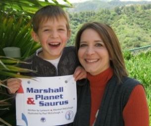 Macaroni Reads ~ Marshall & Planet Saurus