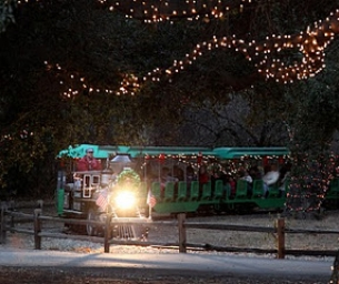 Irvine Park Railroad Christmas Train