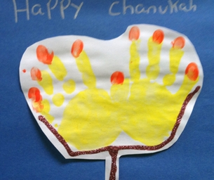 "A ""Handy"" Menorah: A Craft for Chanukah"