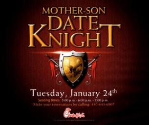 Chick-fil-A is hosting  Mother & Son Date Knight