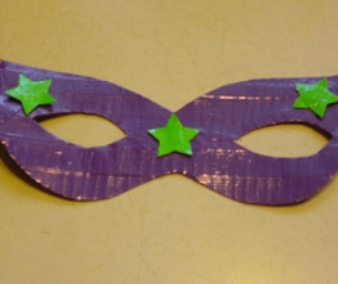 Kid Craft: Duct Tape Mardi Gras Masks