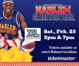 Harlem Globetrotters in Hartford with Discount!