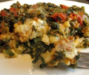 Recipe: Spinach and Rice Lasagna