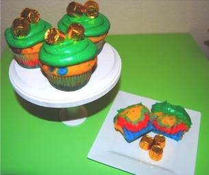 St. Patricks Day Rainbow Cupcakes