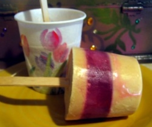 Peanut Butter and Fruit Pops