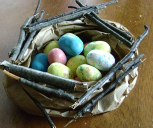Cute Kid Craft for Spring: Bird Nest