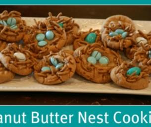Peanut Butter Nest Cookies