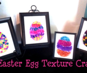 Easter Craft for Kids: Egg Texture