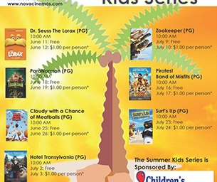 2013 Kids Summer Movie Series at Nova Cinemas