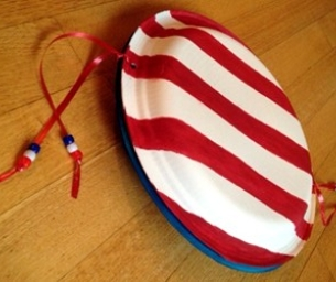 Macaroni Crafts - Fourth of July Noisemaker