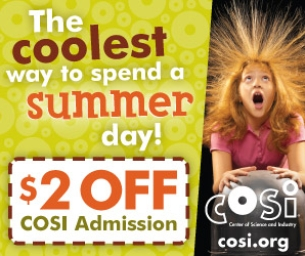 COSI discount and list of fun events!