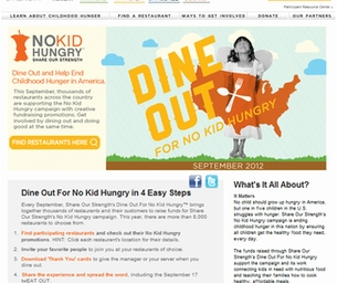 DINE OUT THIS WEEK, SEPT 16-22 TO HELP END HUNGER