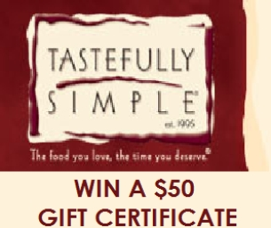 GIVEAWAY: $50 Tastefully Simple Gift Certificate