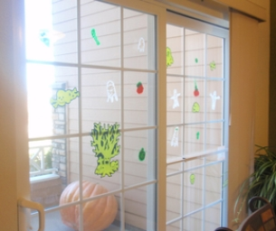 Halloween Homemade Window Clings!