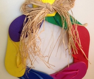 Craft Corner - Flip Flop Wreath