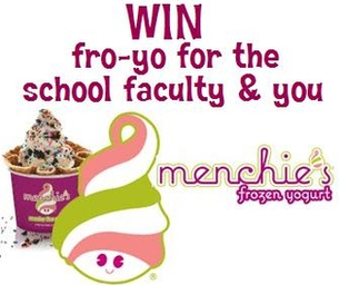 School Contest Announcement for Free Fro-Yo
