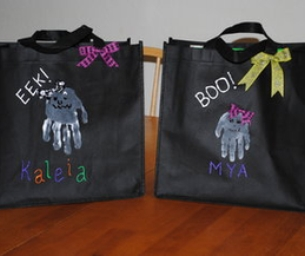 """Hand""-Made Halloween Treat Bags"