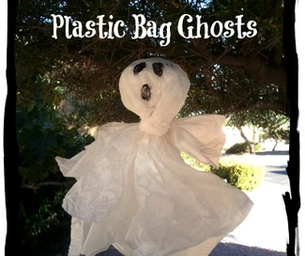 Recycled Plastic Bag Ghosts!