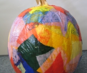 Decoupage Pumpkin!
