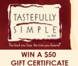 GIVEAWAY: $50 Tastefully Simple Gift Certificate