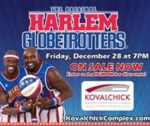 Harlem Globetrotters December 28 at 7PM