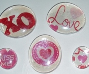 Marble Valentine Magnets