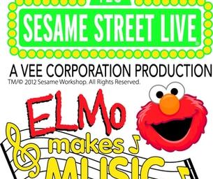 Sesame Street Live:Elmo Makes Music on March 28-31