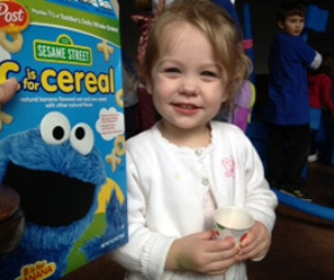 Toddlers Try Post Sesame Street Cereals!