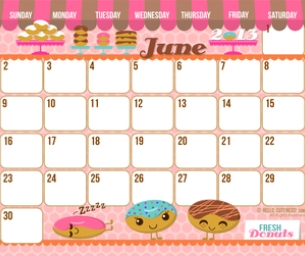 Super-cute Printable Calendars