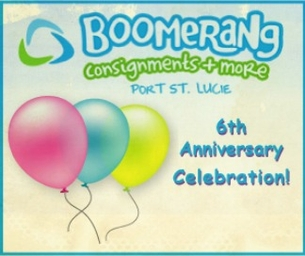 Boomerang Consignments 6th Year Anniversary Event!