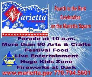 Celebrate July 4th in Marietta Square!