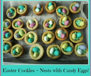 Easter Cookies ~ Nests with Candy Eggs