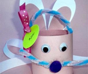 Easter Craft: Water Bottle Bunny Basket