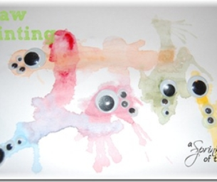 Easy Kid Craft: Straw Painting