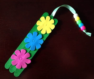 Macaroni Crafts ~ Craft Stick Bookmark
