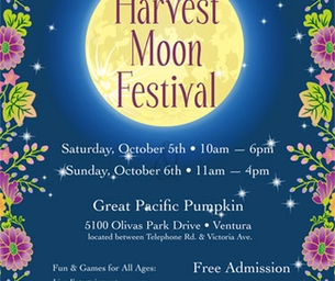 HARVEST MOON FESTIVAL THIS WEEKEND