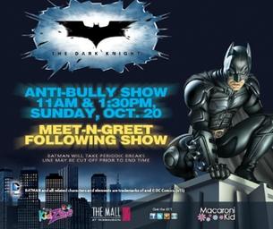 Meet Batman! Mall @ Robinson 10/20 11 AM & 1:30P