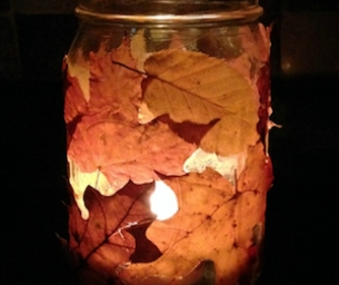 Fall Leaf Candle Jar: Reuse, Recycle, & Create