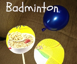 Play at Home! Balloon Badminton