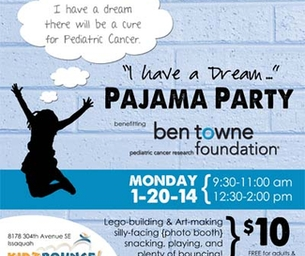 Come Bounce & Dream on January 20 - benefitting Ben Towne Foundation