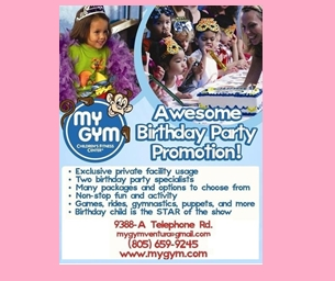 Your Child is the Star of the Party at My Gym VENTURA