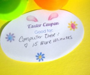 Easter Coupons, Scavenger Hunt, and Gift Tags