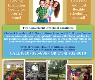 Circle of Friends and A Place To Grow Preschool and Childcare Centers